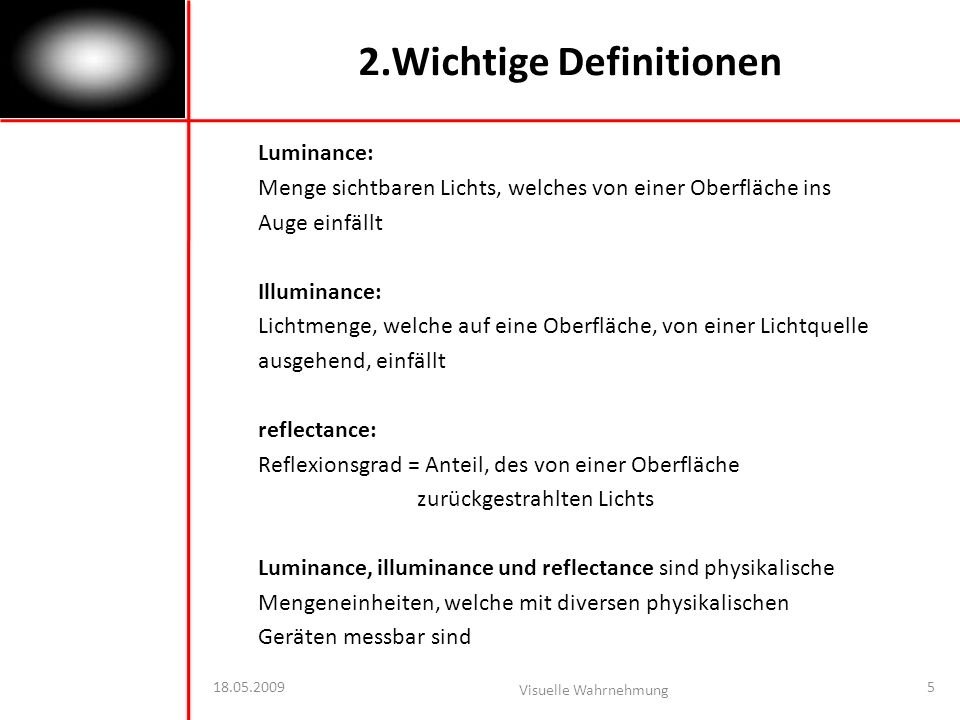 2.Wichtige Definitionen