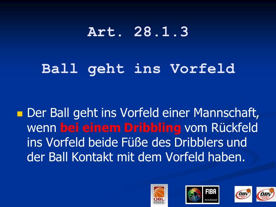 Art. 28.1.3 Ball geht ins Vorfeld