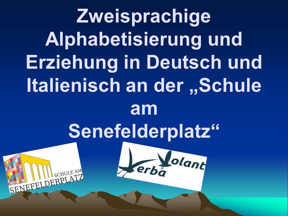 """Zweisprachige Alphabetisierung und Erziehung in Deutsch und Italienisch an der """"Schule am Senefelderplatz"""