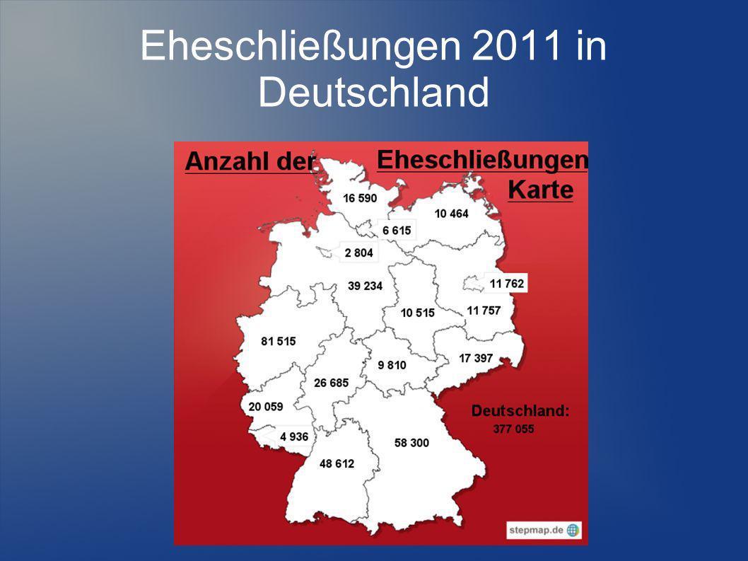 Eheschließungen 2011 in Deutschland