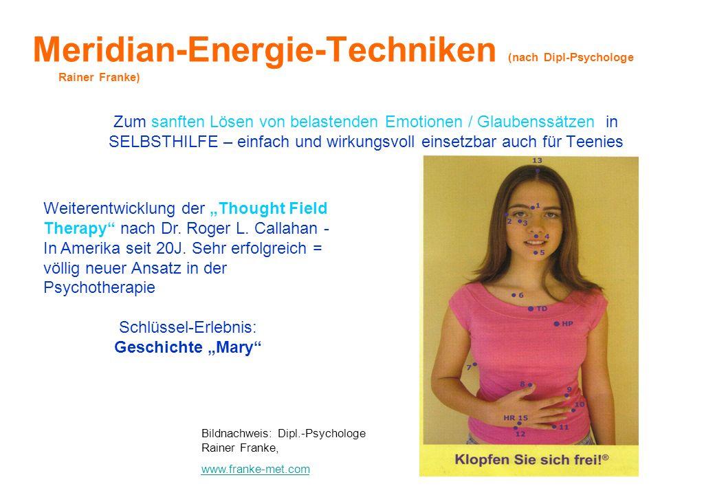 Meridian-Energie-Techniken (nach Dipl-Psychologe Rainer Franke)