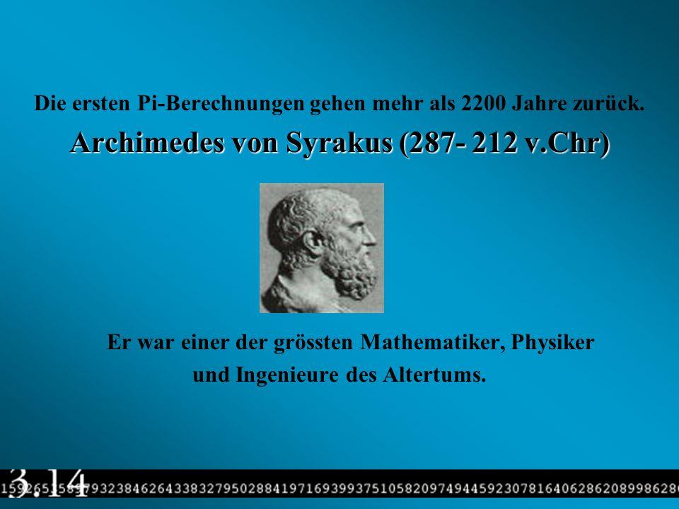Archimedes von Syrakus (287- 212 v.Chr)