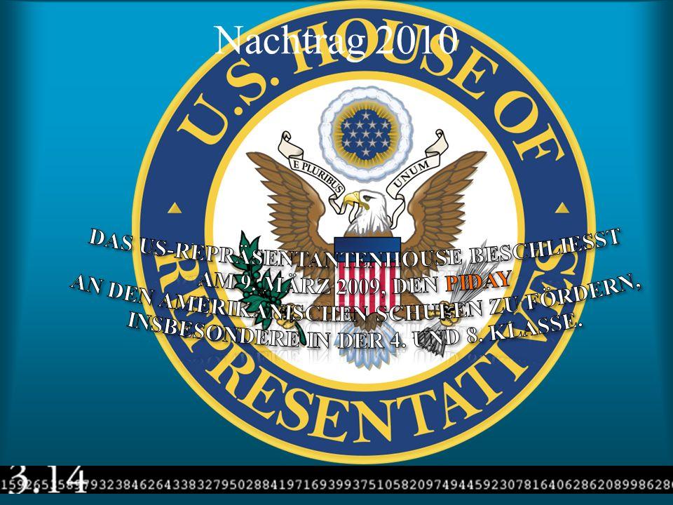 Nachtrag 2010 Das US-Repräsentantenhouse beschliesst