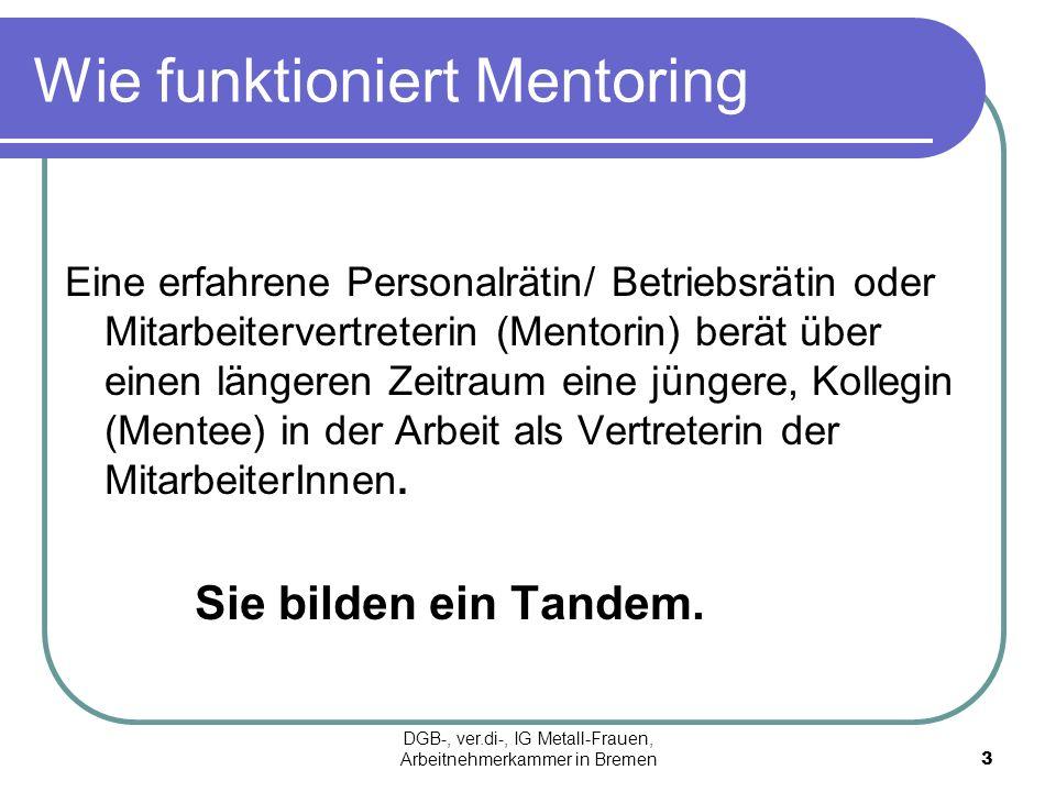 Wie funktioniert Mentoring