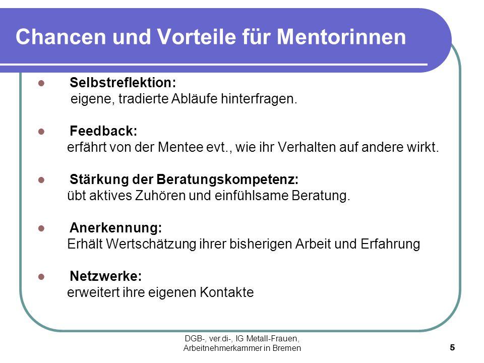 Chancen und Vorteile für Mentorinnen