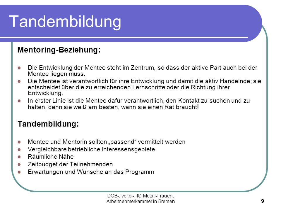 DGB-, ver.di-, IG Metall-Frauen, Arbeitnehmerkammer in Bremen