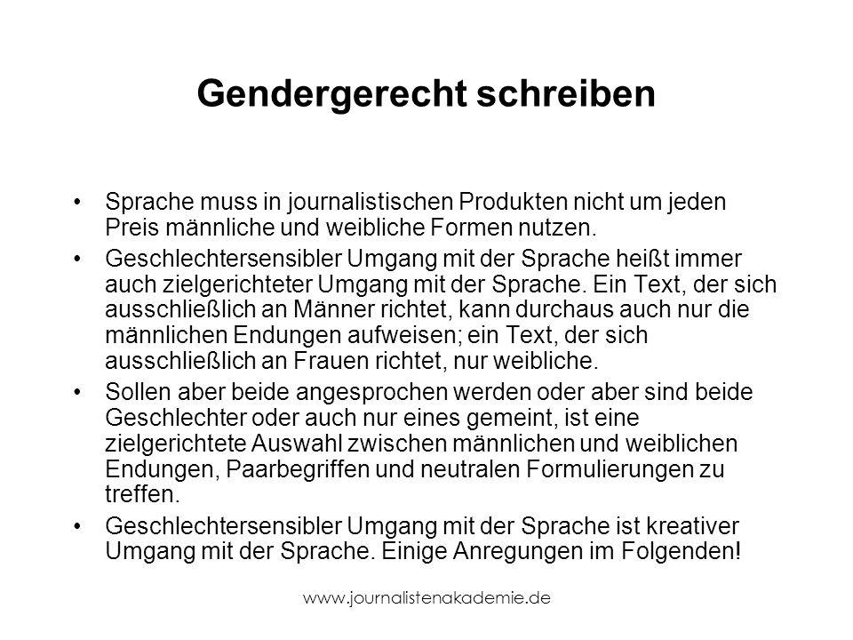 Gendergerecht schreiben