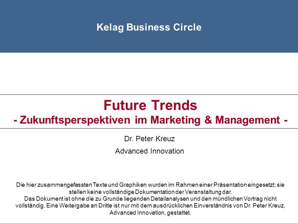 Future Trends - Zukunftsperspektiven im Marketing & Management -
