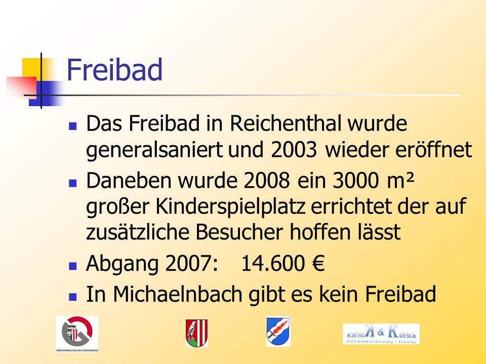 Freibad Das Freibad in Reichenthal wurde generalsaniert und 2003 wieder eröffnet.