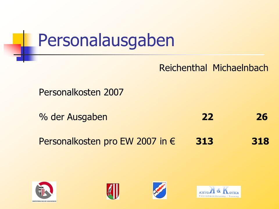 Personalausgaben Reichenthal Michaelnbach Personalkosten 2007