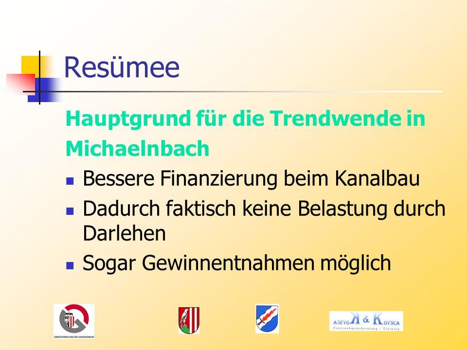Resümee Hauptgrund für die Trendwende in Michaelnbach