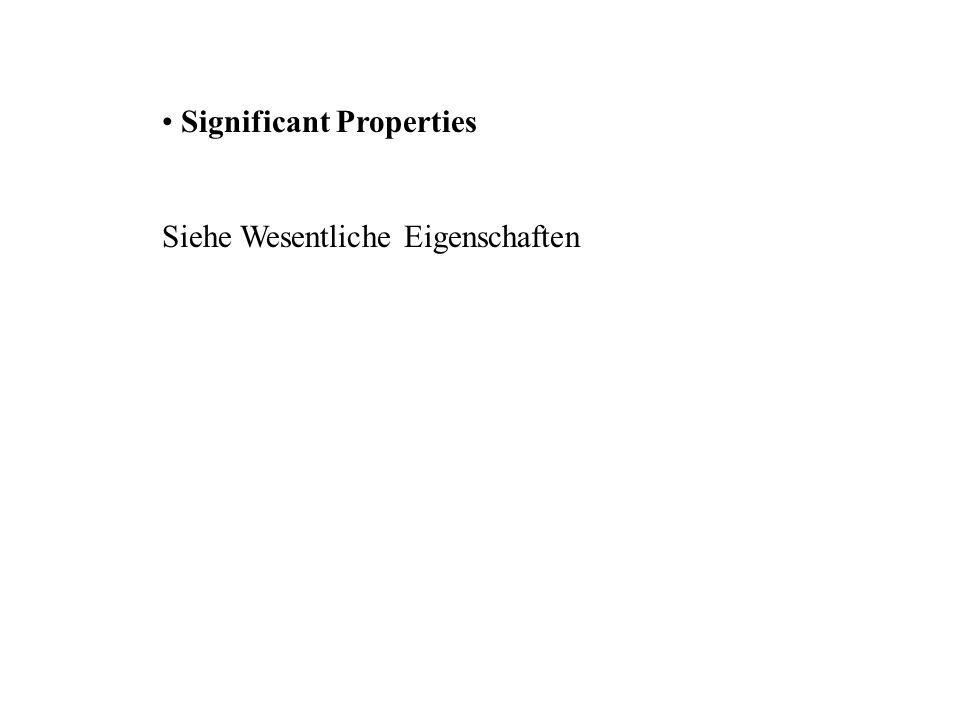 Significant Properties