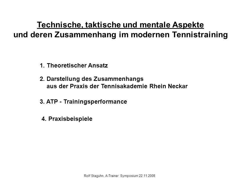 Rolf Staguhn, A-Trainer Symposium 22.11.2008