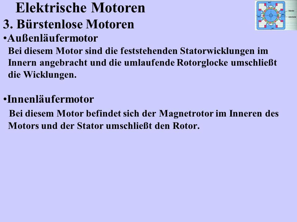 Elektrische Motoren 3. Bürstenlose Motoren Außenläufermotor