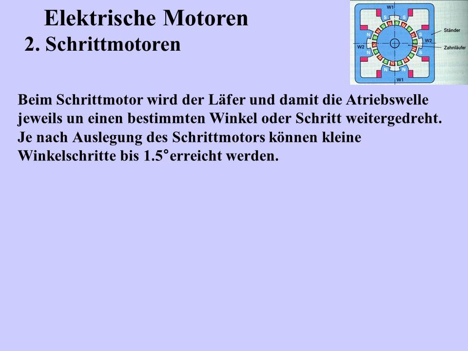 Elektrische Motoren 2. Schrittmotoren