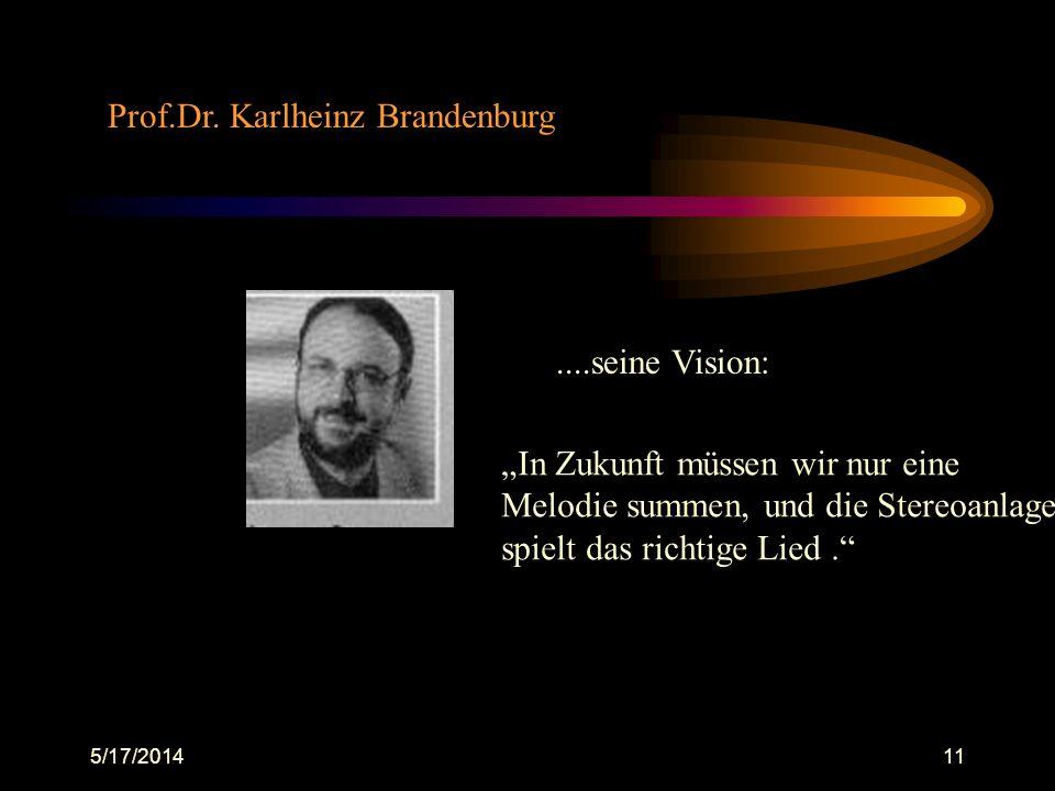 Prof.Dr. Karlheinz Brandenburg