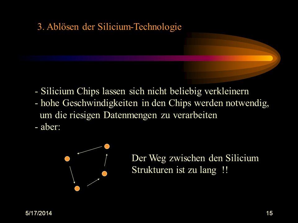 3. Ablösen der Silicium-Technologie