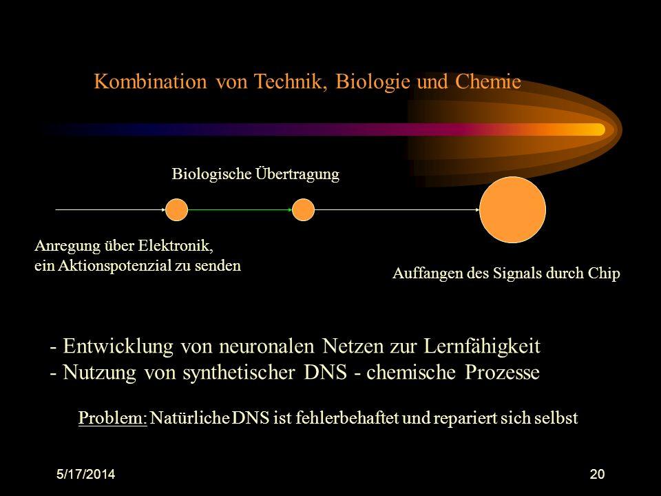 Kombination von Technik, Biologie und Chemie