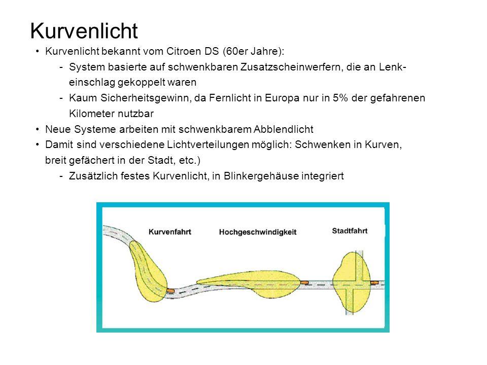 Kurvenlicht Kurvenlicht bekannt vom Citroen DS (60er Jahre):