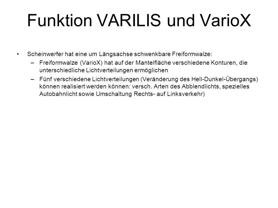 Funktion VARILIS und VarioX