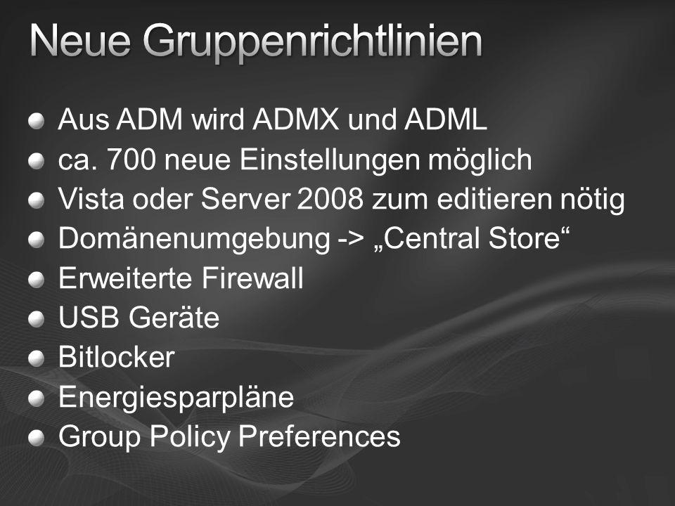Neue Gruppenrichtlinien