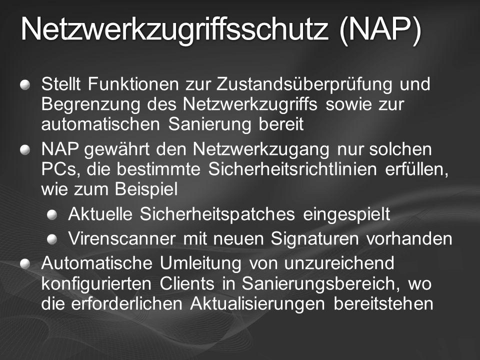 Netzwerkzugriffsschutz (NAP)