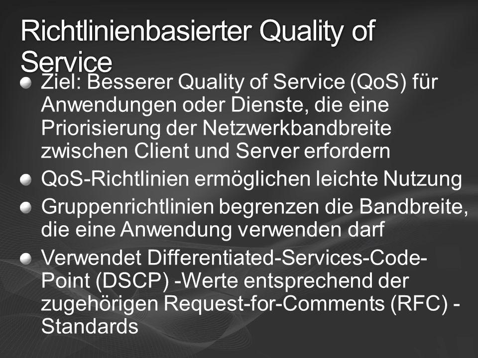 Richtlinienbasierter Quality of Service