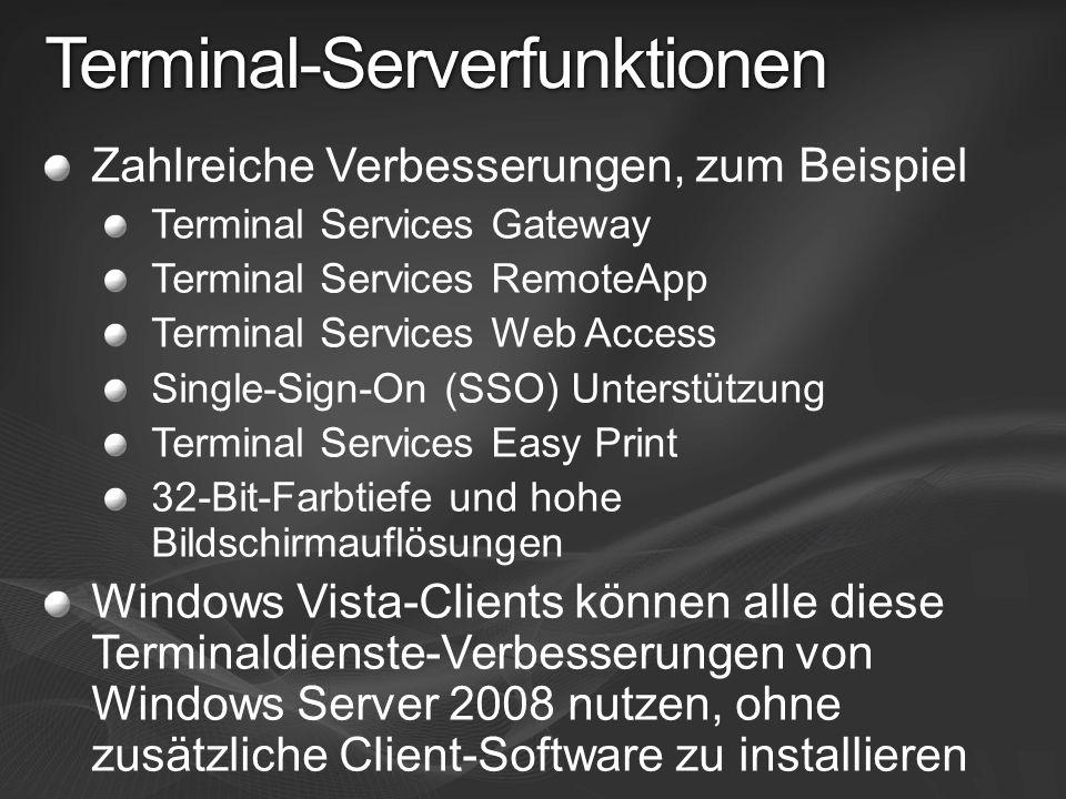 Terminal-Serverfunktionen