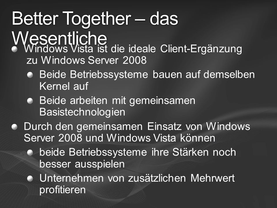 Better Together – das Wesentliche