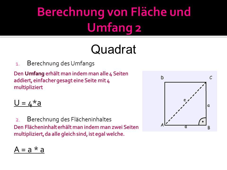 Berechnung von Fläche und Umfang 2
