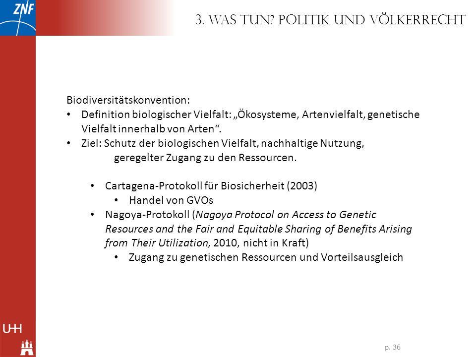 3. Was tun Politik und Völkerrecht