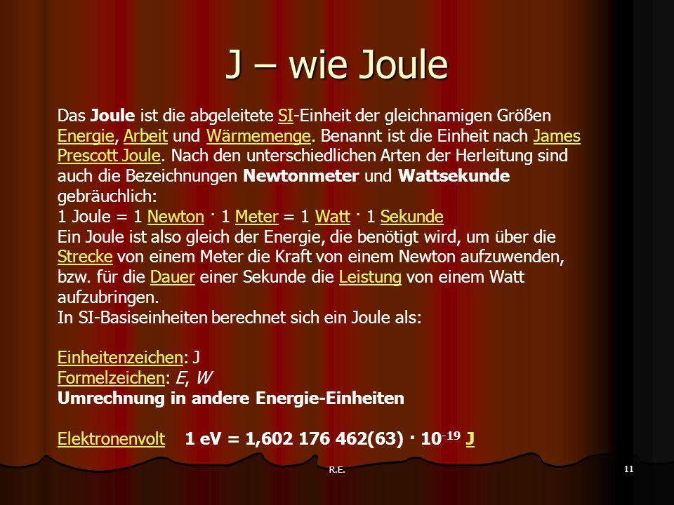 J – wie Joule
