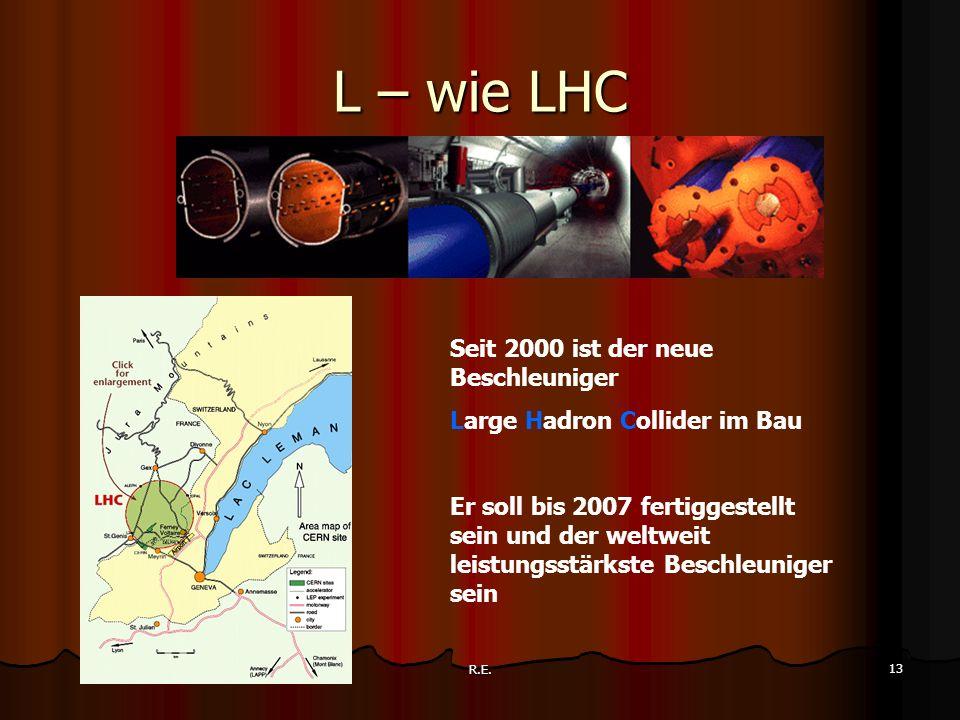 L – wie LHC Seit 2000 ist der neue Beschleuniger