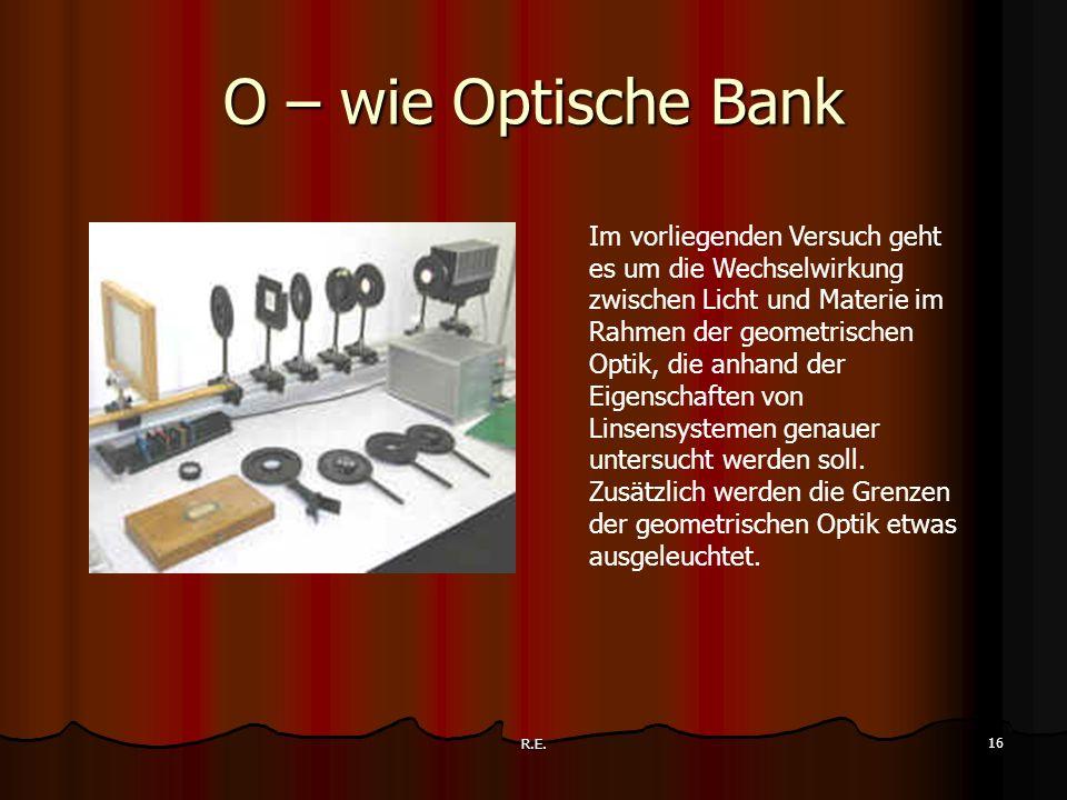 O – wie Optische Bank
