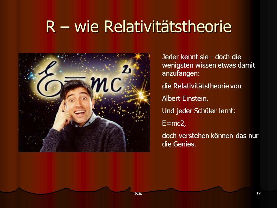 R – wie Relativitätstheorie
