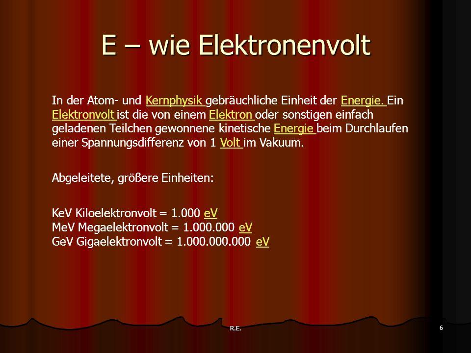 E – wie Elektronenvolt