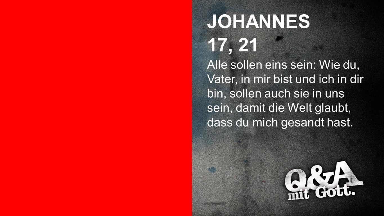 Joh. 17, 21 JOHANNES. 17, 21.
