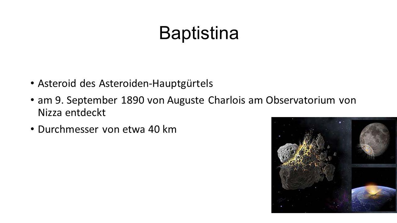 Baptistina Asteroid des Asteroiden-Hauptgürtels