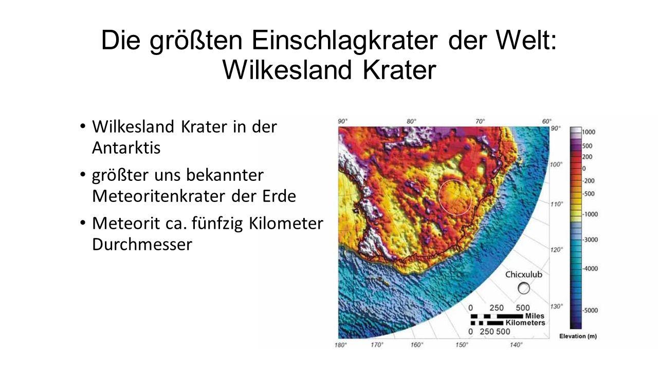 Die größten Einschlagkrater der Welt: Wilkesland Krater