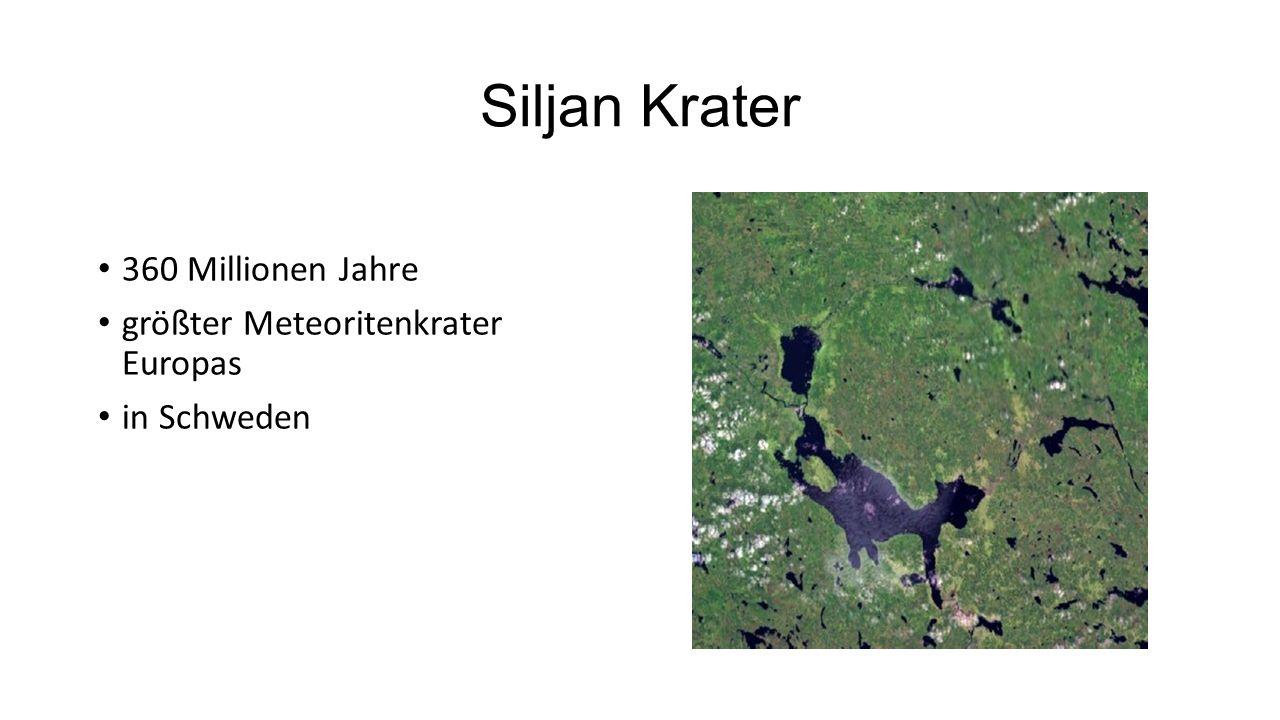 Siljan Krater 360 Millionen Jahre größter Meteoritenkrater Europas