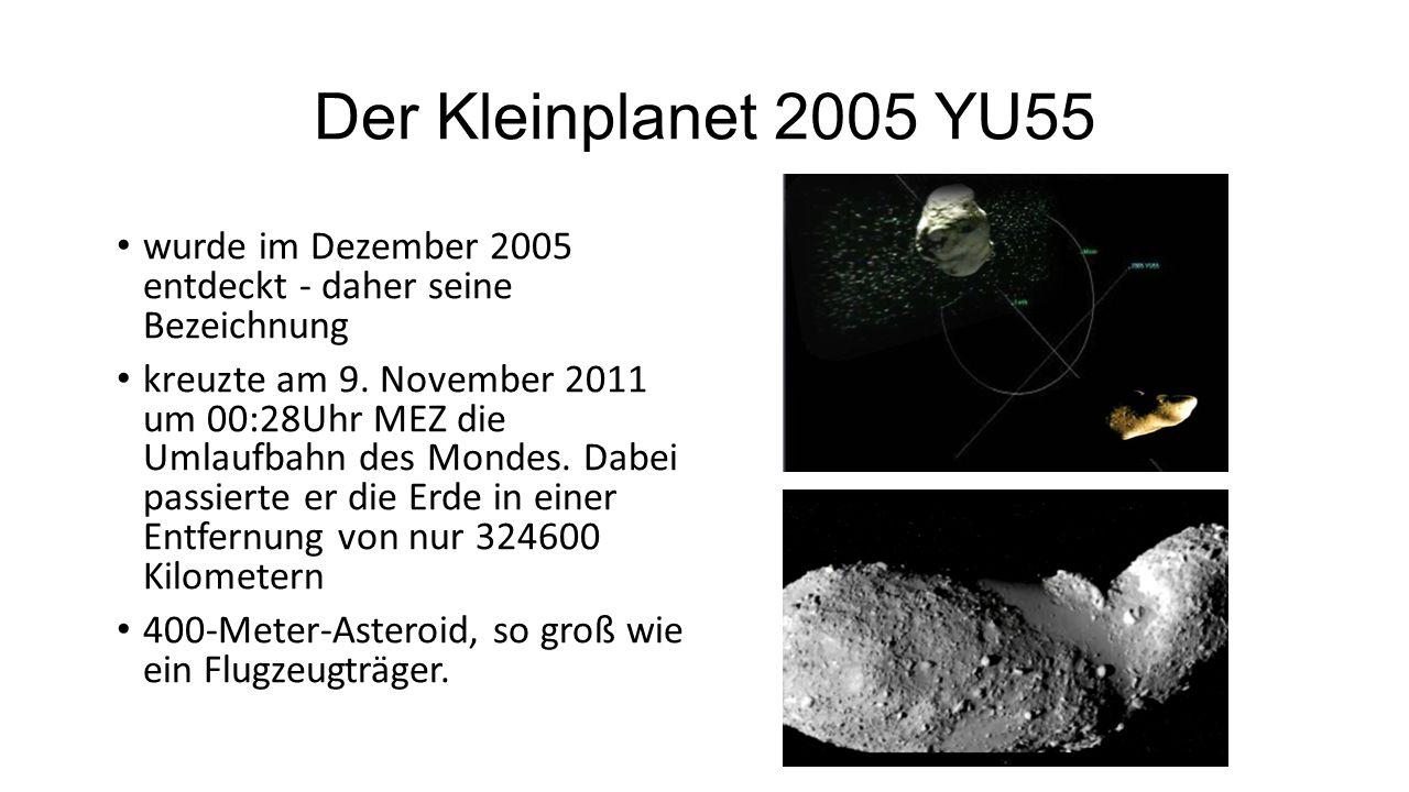 Der Kleinplanet 2005 YU55 wurde im Dezember 2005 entdeckt - daher seine Bezeichnung.