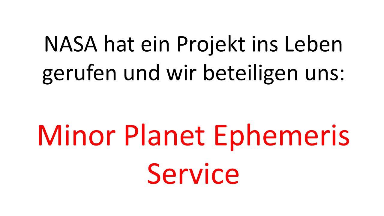 Minor Planet Ephemeris Service