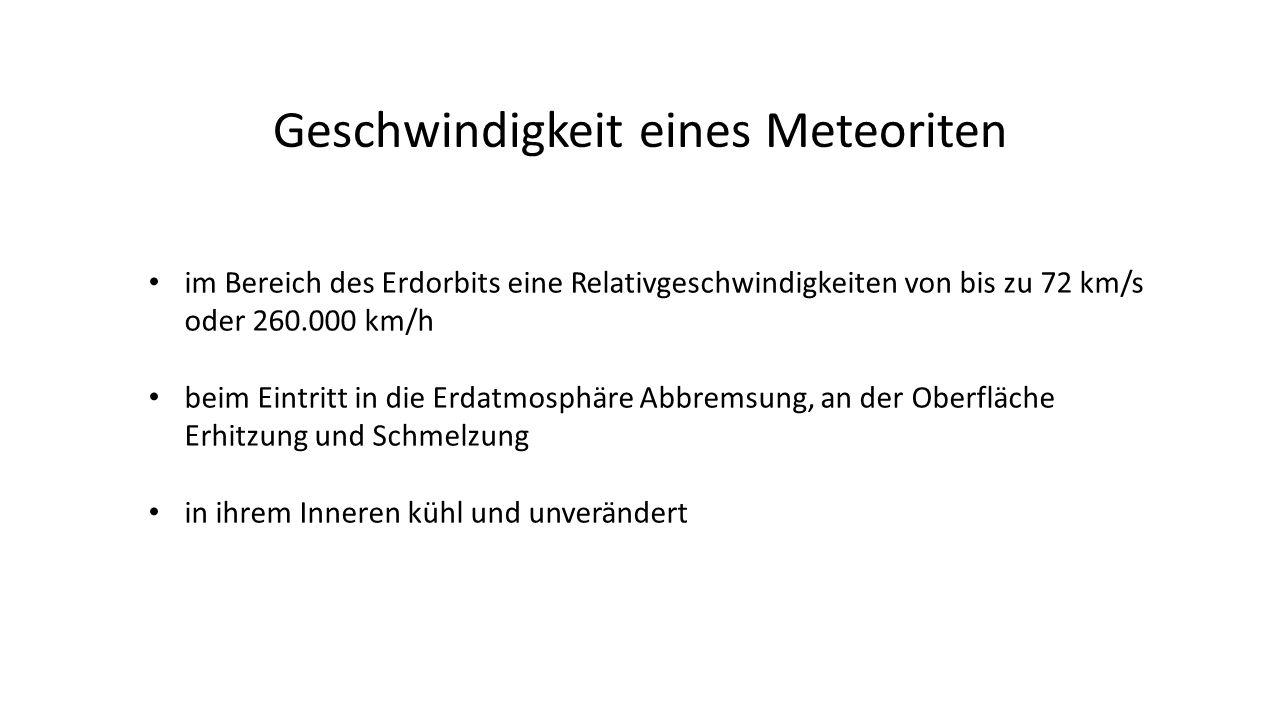 Geschwindigkeit eines Meteoriten