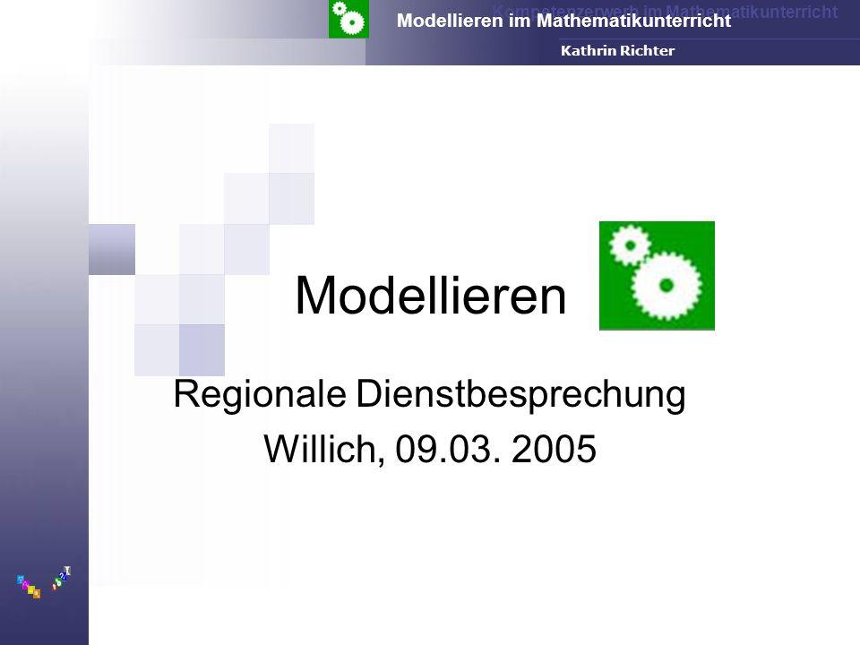 Regionale Dienstbesprechung Willich, 09.03. 2005