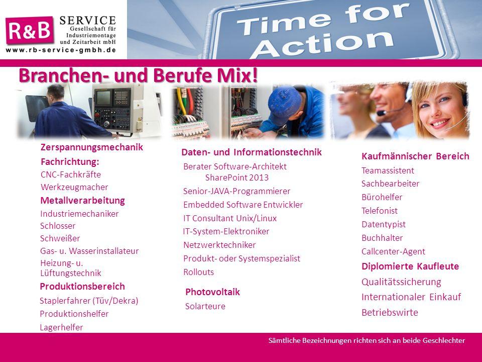 Branchen- und Berufe Mix!