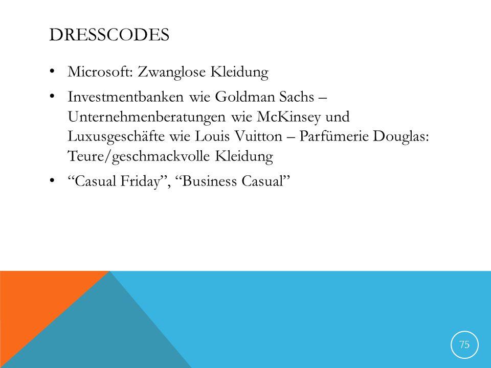 Dresscodes Microsoft: Zwanglose Kleidung