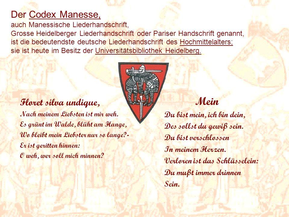 Mein Der Codex Manesse, Floret silva undique,