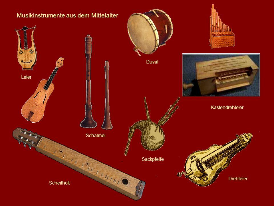 Musikinstrumente aus dem Mittelalter