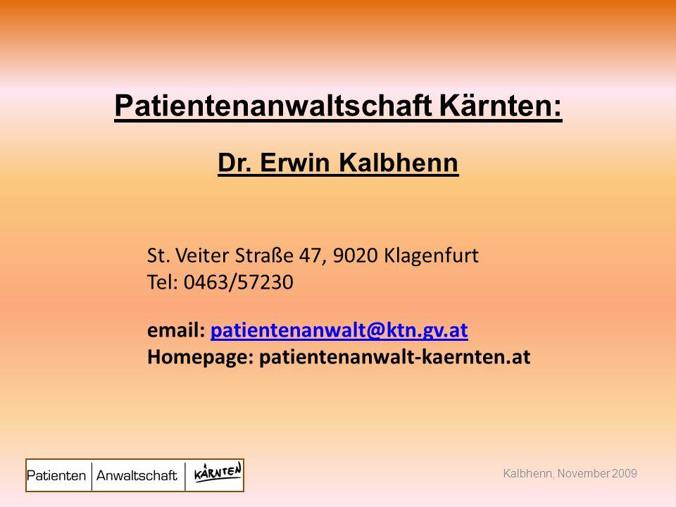 Patientenanwaltschaft Kärnten: