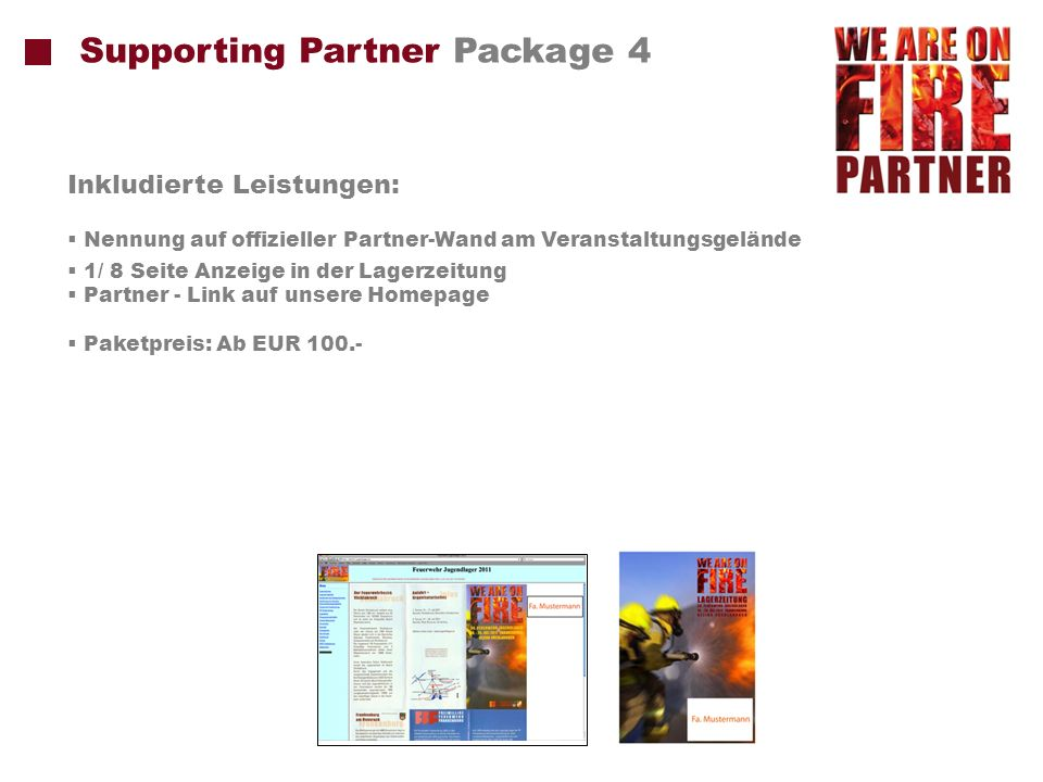 Supporting Partner Package 4